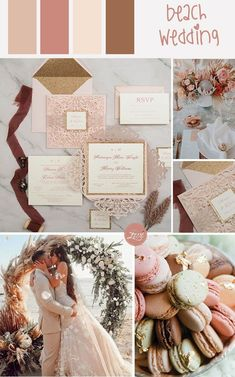 shades of blush and mint beach wedding theme #ewi