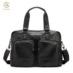 Cheap Crossbody Bags, Buy Directly from China Suppliers:AHRI NEW Luxury Brand Handbags PU Leather Man Bag Vintage Fashion Top handle Bag For Men Solid Shoulder Men's Casual Tote Bag Men's Fashion Brands, Fashion Top, Vintage Fashion, Mens Fashion, Men's Totes, Underwear Brands, Luxury Handbags, Luggage Bags, Luxury Branding