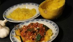 Spaghetti (Squash) Bolognese with Ground Turkey, Mushrooms and Spinach