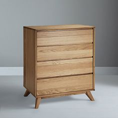 Buy House by John Lewis Stride 4 Drawer Chest, Oak Online at johnlewis.com