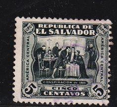 El Salvador - #498 Conspiracy of 1811 - Used - bidStart (item 8340197 in Stamps... El Salvador)