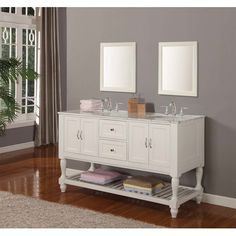 Custom Bath Double Vanity custom bath furniture / double vanity with square tapered legs