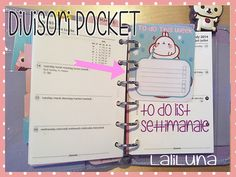 Printables dividers   Pocket  MOLANG Kawaii - Weekly to do list. - Lista settimanale delle cose da fare ^_^  https://www.etsy.com/it/shop/LaliLunaStore