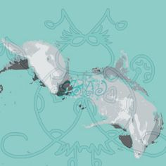Dolphin Pair Abstract Digital Scrapbooking Paper by SnugglebugArtDesign on Etsy