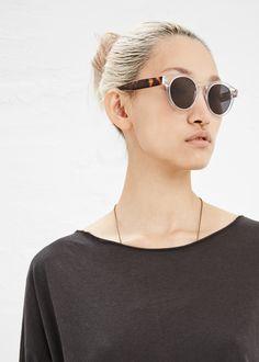 Illesteva Leonard Sunglasses (Clear / Havana)