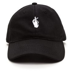 Snap Decisions Embroidered Cap (555 DOP) ❤ liked on Polyvore featuring accessories, hats, caps, acc, black, curved brim hats, embroidery hats, cap hats, snap brim hat and snap cap hat