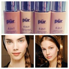 """@pür Minerals's photo: """"Want to achieve the new luminous matte finish from the fall runways? Our 4-in-1 liquid foundation is your perfect match! Pick one up in our #BOGO sale at purminerals.com #lasts14hours #valentino #falltrends #matteskin #purbeauty #makeup #foundation (model images via style.com)"""""""