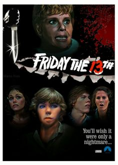 Friday the 13th 1980 Horror Movie Slasher Poster Fan Made Edit Mario.frias