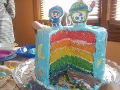 Inside of team umizoomi cake