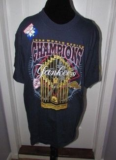 1d60f9f04 NY New York Yankees 1996 World Series Championship Pro Player Shirt Large