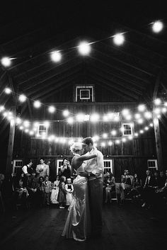 Breathtaking white wedding lights - Barn wedding. Visit www.justintrails.com for more DIY wedding ideas.