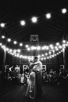 Breathtaking white wedding lights - Barn wedding. Visit www.justintrails.com for more DIY wedding ideas.