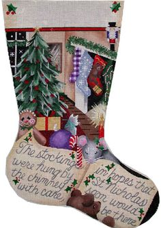 click here to view larger image of Stockings Were Hung Lg Stocking (hand painted canvases)