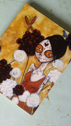 Finding Eden 8x10 wood mounted print by AllisonWeeksThomas on Etsy #art #etsy #diadelosmuertos #dayofthedead #sugarskull