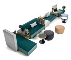 Bikini Island by Moroso | Seating islands