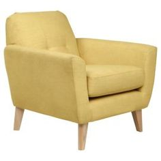 Buy Capri Armchair Fabric, Yellow from our Occasional Chairs & Chaises range - Tesco.com