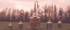 Some of our Handmade Copper Stills
