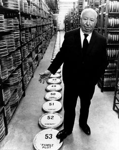 Hitch with his films