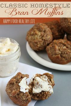 Classic Homestyle Bran Muffins. This recipe came from the back of the All-Bran box, but I made it's made it even HEALTHIER!! // www.happyfoodhealthylife.com