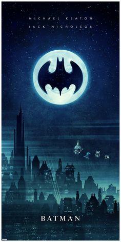 Directed by Tim Burton. With Michael Keaton, Jack Nicholson, Kim Basinger, Robert Wuhl. The Dark Knight of Gotham City begins his war on crime with his first major enemy being Jack Napier, a criminal who becomes the clownishly homicidal Joker. Batman Poster, Batman Film, Fan Art Batman, Im Batman, Spiderman, Batman Phone, Batman Artwork, Batman Stuff, Book Art
