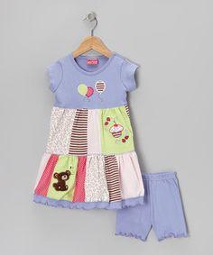 Pixyworld Blue Teddy Bear Picnic Dress & Shorts - Infant, Toddler & Girls by Pixyworld #zulily #zulilyfinds