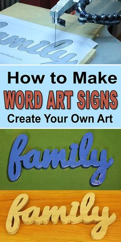 How to Create Word Art Signs (Easy, Family, DIY, Woodworking Project). wood projects to sell easy Favorites. You could discover even more information by visiting the photo link. Wood Projects For Beginners, Wood Working For Beginners, Diy Wood Projects, Wood Crafts, Outdoor Wood Projects, Pallet Crafts, Diy Pallet, Learn Woodworking, Easy Woodworking Projects