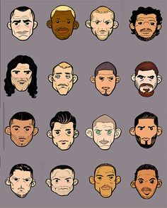 Can you name all of these MMA Lightweight caricatures? (via MiddleEasy.com) #MMA #UFC