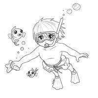 Timothy Swimming by *Otaku-no-Bijutsu on deviantART