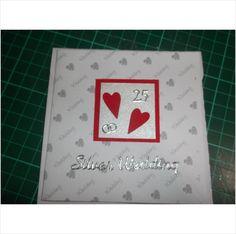 25th Wedding Anniversary Handmade Card Silver Wedding on eBid United Kingdom
