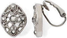 Liz Claiborne Marcasite Clip Earrings