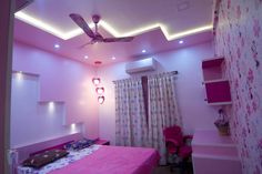 Kids bedroom false ceiling design : by Bonito Designs Bangalore