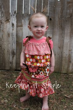Melly Sews: Indian Summer Pillowcase Dress by Kaysi of Keeping it Simple. has measurement guide for girl's dresses