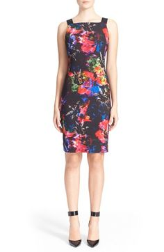 MILLY Floral Print Sheath Dress. #milly #cloth #