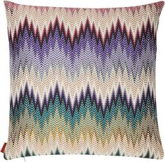 Missoni Home Phrae Cushion Cover with Feather-Filled Pad