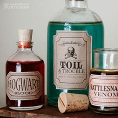 printabe  Apothecary Jar Labels