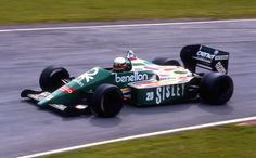 Teo Fabi, Benetton B186 / BMW M12 1.5L 4t, Heini Mader Racing Components, Silverstone, 1986.