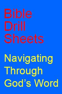 Bible Drill Sheets | Bible Drills Index | Bible Drill Sheets - Perfect for Large group time.
