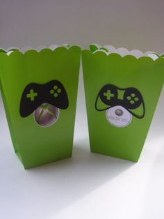 10-Large-XBox-Popcorn-Bags-Boxes-Birthday-Boys-Party-Favors-Gamer-Green-Black