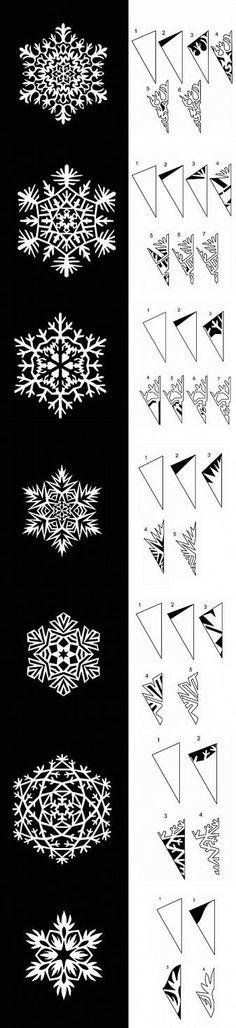 DIY Paper Snowflakes Templates DIY Projects | UsefulDIY.com