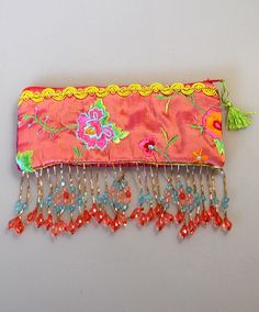 Vintage 1960s Chinese Silk Beaded Evening Purse