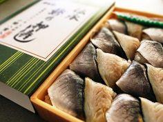 伝承 鯵の押寿し(大船駅・大船軒) press sushi of horse mackerel. Kamakura,Syonan,Kanagawa,Japan. 駅弁専門店が東京駅に!絶対に買いたい人気商品20選 - Find Travel