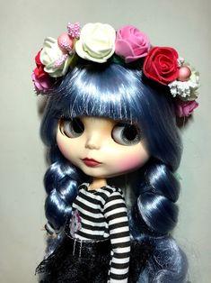 OOAK handmade Flower headband for Blythe, Pullip, Icy dolls. Flower crown #Unbranded