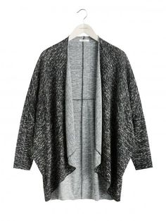 Sandwich Cocoon Cardigan - Black