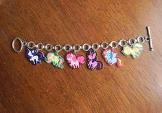 My Little Pony Friendship is Magic Charm Bracelet $25.00 on #etsy #mlpfim