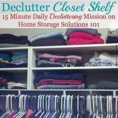 How to declutter clo