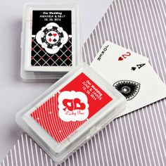 Personalized Playing Card Favors. Great for LV wedding!!