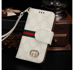 New Arrival Real Gucci iPhone 6 Cases - iPhone 6 Plus Cases - Leather Wallet Cover Case White - Free Shipping - Chanel & Louis Vuitton Authorized Store