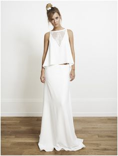 twopiece wedding dress - very trendy and edgy boho style