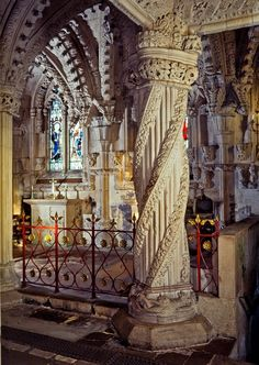 Apprentice Pillar, Rosslyn Chapel, Midlothian (Scotland)