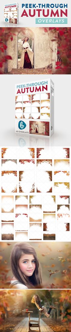 Create depth and intrique in your Fall images with the Autumn Peek-Through Overlays from Bellevue Avenue | https://bellevue-avenue.com/products/peek-through-autumn-overlays